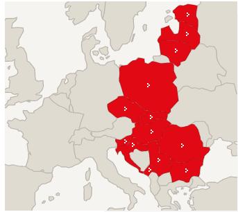 Europakarte mit Staaten aus denen unsere Gründungsmitglieder kommen
